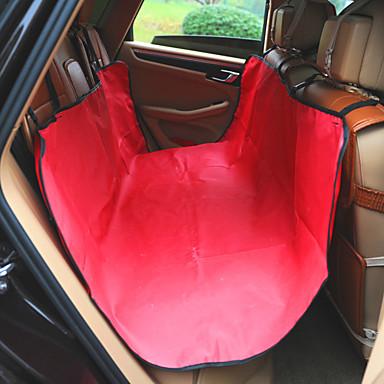 كلب سيارة مقعد الغطاء حيوانات أليفة الحصير والوسادات لون سادة مقاوم للماء المحمول قابلة للطى أحمر أزرق شريط للحيوانات الأليفة