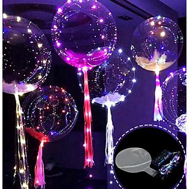 3m 30led بالون مع قاد قطاع مضيئة أدى البالونات للزينة الزفاف حفلة عيد الميلاد عيد الميلاد السنة الجديدة