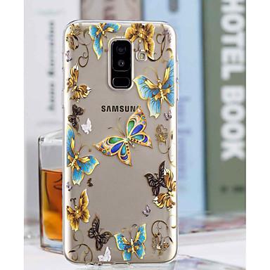 غطاء من أجل Samsung Galaxy A6+ (2018) / A6 (2018) شفاف / نموذج غطاء خلفي فراشة ناعم TPU إلى A6 (2018) / A6+ (2018) / A3 (2017)