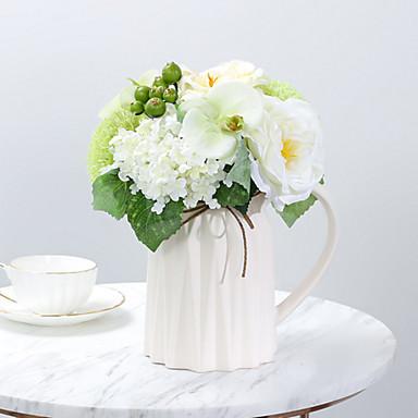 زهور اصطناعية 1 فرع كلاسيكي أوروبي Wedding Flowers فاكهة Camellia أزهار الطاولة