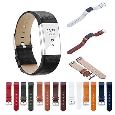 حزام إلى Fitbit Charge 2 فيتبيت عصابة الرياضة جلد طبيعي شريط المعصم