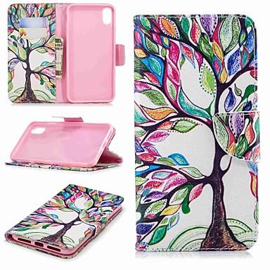غطاء من أجل Apple iPhone XR / iPhone XS Max محفظة / حامل البطاقات / مع حامل غطاء كامل للجسم شجرة قاسي جلد PU