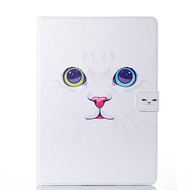 غطاء من أجل Apple ايباد ميني 5 / iPad New Air (2019) / iPad Air حامل البطاقات / مع حامل / قلب غطاء كامل للجسم قطة قاسي جلد PU / iPad Pro 10.5 / iPad (2017)