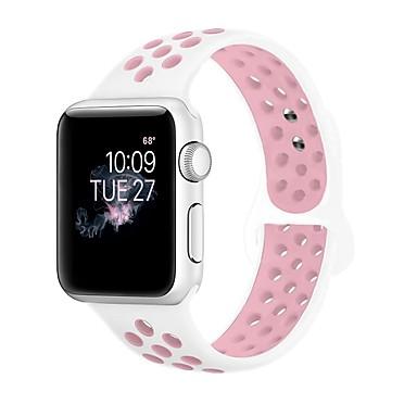 levne Pánské-Silica gel Watch kapela Popruh pro Apple Watch Series 4/3/2/1 Černá / Bílá 23cm / 9 palce 2.1cm / 0.83 palce