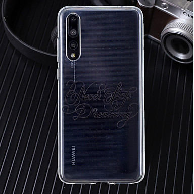 غطاء من أجل Huawei Huawei P20 / Huawei P20 Pro / Huawei P20 lite نحيف جداً / شفاف / نموذج غطاء خلفي جملة / كلمة ناعم TPU / P10 Lite