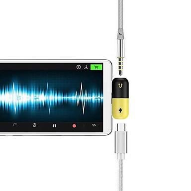Недорогие Универсальные аксессуары для мобильных телефонов-Type-C Адаптер <1m / 3ft От 1 до 2 Пластик Адаптер USB-кабеля Назначение Samsung / Huawei / LG