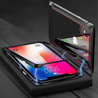 غطاء من أجل Apple iPhone X / iPhone 8 Plus / iPhone 8 مغناطيس غطاء كامل للجسم لون سادة قاسي زجاج مقوى
