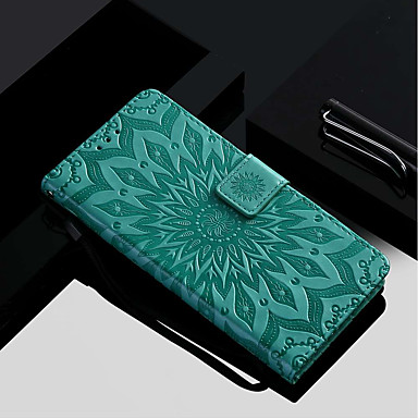 غطاء من أجل Samsung Galaxy A6 (2018) / A6+ (2018) / A3 (2017) محفظة / حامل البطاقات / مع حامل غطاء كامل للجسم زهور قاسي جلد PU