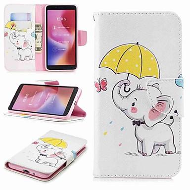 غطاء من أجل Xiaomi Redmi Note 5A / Xiaomi Redmi Note 5 Pro / Xiaomi Redmi Note 4X محفظة / حامل البطاقات / مع حامل غطاء كامل للجسم فيل قاسي جلد PU
