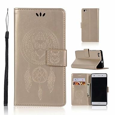 غطاء من أجل Huawei Huawei P8 Lite محفظة / حامل البطاقات / مع حامل غطاء كامل للجسم بوم قاسي جلد PU