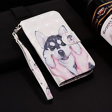 voordelige Galaxy J-serie hoesjes / covers-hoesje Voor Samsung Galaxy J8 (2018) / J7 (2017) / J7 (2018) Portemonnee / Kaarthouder / met standaard Volledig hoesje Hond Hard PU-nahka