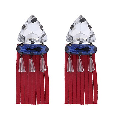 نسائي مكشكش هندسي أقراط قطرة الأقراط سيدات بوهيميان أوروبي عرقي مجوهرات أسود / أحمر من أجل مناسب للحفلات 1 زوج