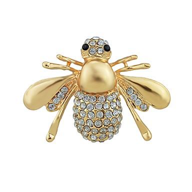 نسائي التورمالين الاصطناعية دبابيس ستايل نحلة سعيد الحظ سيدات أنيق أساسي بروش مجوهرات ذهبي من أجل هدية مناسب للبس اليومي