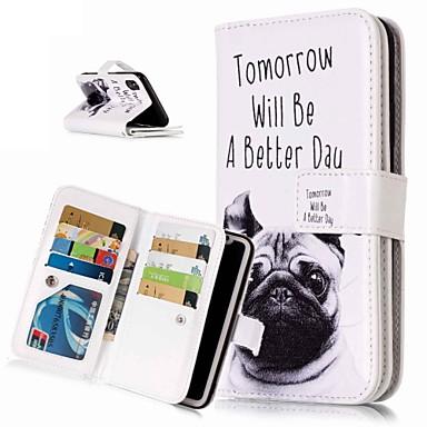 voordelige iPhone X hoesjes-hoesje Voor Apple iPhone XS / iPhone XR / iPhone XS Max Portemonnee / Kaarthouder / met standaard Volledig hoesje Hond Hard PU-nahka