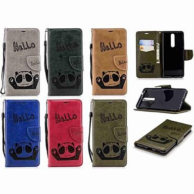 غطاء من أجل نوكيا Nokia 5.1 / Nokia 3.1 محفظة / حامل البطاقات / قلب غطاء كامل للجسم باندا قاسي جلد PU إلى Nokia 5 / Nokia 5.1 / Nokia 3