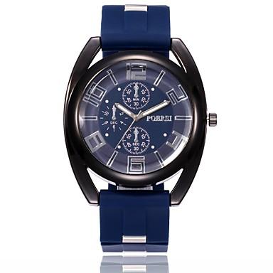 رجالي ساعة عسكرية ساعة المعصم كوارتز سيليكون أسود / أزرق / أخضر تصميم جديد ساعة كاجوال مماثل كاجوال الحد الأدنى - أسود أخضر أزرق سنة واحدة عمر البطارية