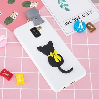 voordelige Galaxy A-serie hoesjes / covers-hoesje Voor Samsung Galaxy A5(2018) / A6 (2018) / A6+ (2018) Patroon / DHZ Achterkant Kat Zacht TPU