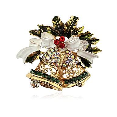 billige Damesmykker-Dame Nåler Klassisk Klokke damer Klassisk Strass Brosje Smykker Gull Til Jul