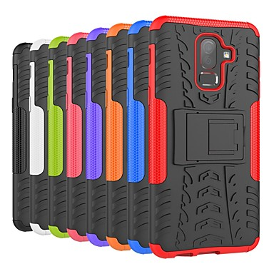 Case For Samsung Galaxy J7 Duo / J7 (2017) Shockproof / with Stand Back Cover Tile / Armor Hard PC for J8 (2018) / J7 (2018) / J6 (2018)