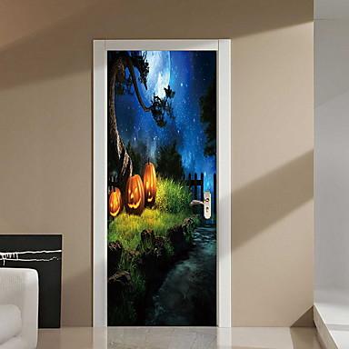 لواصق حائط مزخرفة - لواصق حائط الطائرة Halloween غرفة الجلوس