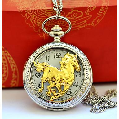 رجالي الزوجين ساعة جيب ساعة ذهبية كوارتز فضة ساعة كاجوال كوول مماثل عتيق كاجوال - ذهبي