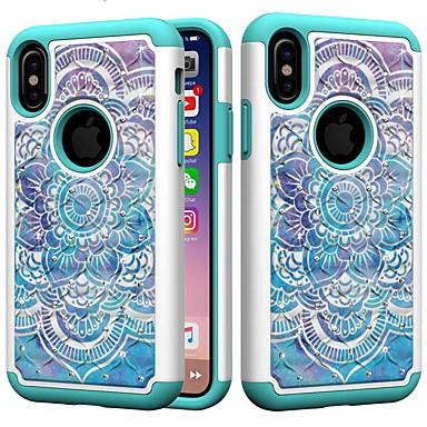 voordelige iPhone X hoesjes-hoesje Voor Apple iPhone XS / iPhone XR / iPhone XS Max Schokbestendig / Strass Achterkant Dromenvanger / Strass / Bloem Hard PC