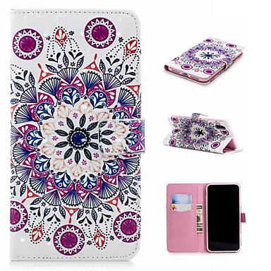 voordelige iPhone 6 Plus hoesjes-hoesje Voor Apple iPhone XS / iPhone XR / iPhone XS Max Portemonnee / Kaarthouder / met standaard Volledig hoesje Mandala / Bloem Hard PU-nahka