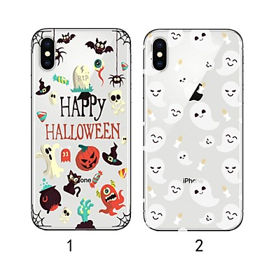 voordelige iPhone X hoesjes-hoesje Voor Apple iPhone XS / iPhone XR / iPhone XS Max Ultradun / Transparant / Patroon Achterkant dier Zacht TPU