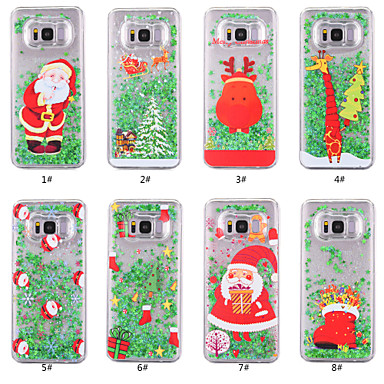 Case For Samsung Galaxy S8 Plus / S8 Flowing Liquid / Transparent / Pattern Back Cover Christmas Hard PC for S8 Plus / S8 / S7 edge
