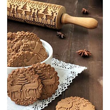 ieftine Ustensile & Gadget-uri de Copt-1 buc Lemn Crăciun O noua sosire Biscuiți Animal Vergea Instrumente de coacere