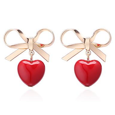 651aac00a Women's Classic Drop Earrings Earrings Heart Bowknot Ladies Korean Sweet  Cute Jewelry Gold For Daily Date