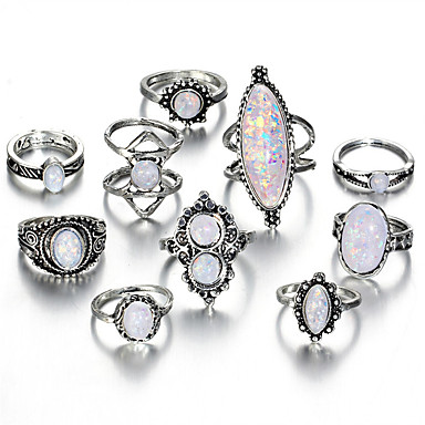 Women's Statement Ring Ring Set Midi Rings Opal 10pcs Silver ... on asian ring designs, college ring designs, funny ring designs, indian ring designs, gorgeous ring designs, handmade ring designs, bizarre ring designs, german ring designs, school ring designs, amazing ring designs, black ring designs, tattoo ring designs, double ring designs, couple ring designs, classic ring designs, cute ring designs, family ring designs, old ring designs,