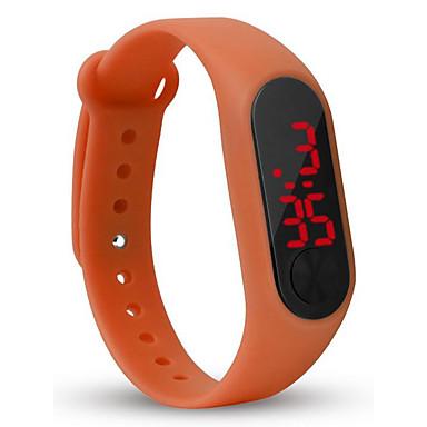 billige Herreure-Herre Digital Watch Digital Silikone Sort / Hvid / Rød 30 m LCD Digital Mode Farverig - Grøn Blå Lyseblå