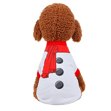 Chiens / Chats Gilet Vêtements pour Chien Couleur Pleine Blanc / Rouge Tissu Costume Pour les animaux domestiques Unisexe Fête / Soirée / Style Mignon