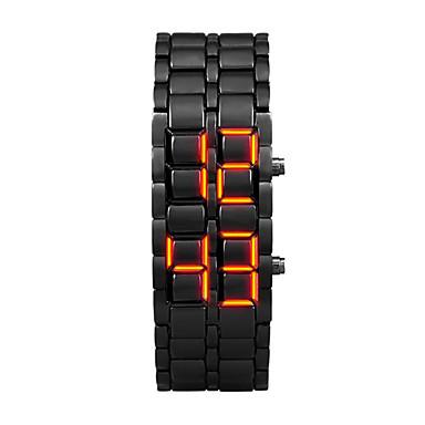 levne Pánské-Pánské Digitální hodinky Křemenný Černá 30 m LCD Digitální Na běžné nošení Módní - Orange / Black Stříbrná / Modrá Stříbrná / Červená