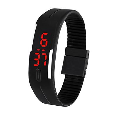levne Pánské-Pánské Digitální hodinky Digitální Silikon Černá / Bílá / Modrá 30 m Voděodolné LCD Digitální Na běžné nošení Módní - Hnědá Červená Zelená