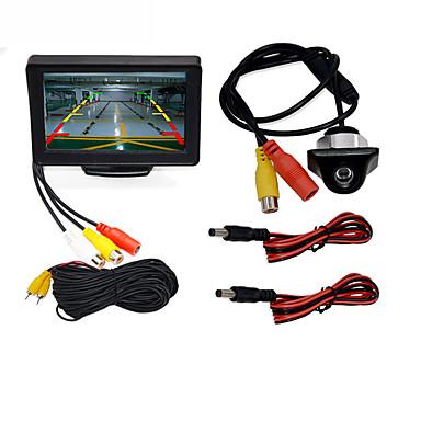 "voordelige Auto-achteruitkijkcamera-BYNCG WG4.3T-4LED 4.3 inch(es) TFT-LCD 480TVL 480p 1/4"" kleuren CMOS Bekabeld 120 graden 1 pcs 120 ° 4.3 inch(es) Achteruitrijcamera / Auto-achteruitrijmonitor / Car Rear View Kit Waterbestendig"