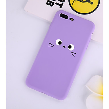voordelige iPhone-hoesjes-hoesje Voor Apple iPhone XS / iPhone X / iPhone 8 Plus Patroon Achterkant Cartoon Zacht TPU