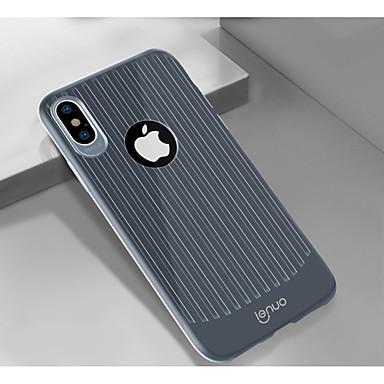 Недорогие Кейсы для iPhone-Lenuo Кейс для Назначение Apple iPhone XR / iPhone XS Max Защита от удара / Ультратонкий Кейс на заднюю панель Полосы / волосы Мягкий ТПУ для iPhone XR / iPhone XS Max