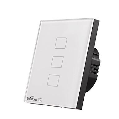 cheap Smart Switch-BroadLink Smart Switch TC2 3gang-EU for Living Room / Study / Bedroom APP Control / WIFI Control / intelligent 170-240 V