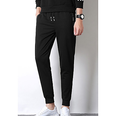 59572b320bd793 Men's Daily Sports Slim Sweatpants Pants - Solid Colored Cotton Black Dark  Gray XXXL XXXXL XXXXXL