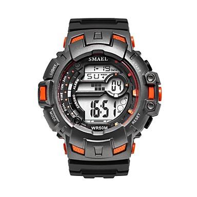 Χαμηλού Κόστους Ανδρικά ρολόγια-Ανδρικά Αθλητικό Ρολόι Ψηφιακό ρολόι Ψηφιακό Συνθετικό δέρμα με επένδυση Μαύρο / Πράσινο του τριφυλλιού Ημερολόγιο Νυχτερινή λάμψη Ψηφιακό Καθημερινό - Κόκκινο Πράσινο Μπλε