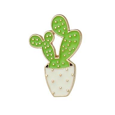 ieftine Broșe-Pentru femei Broșe Tropical Cactus femei Simplu De Bază Broșă Bijuterii Portocaliu Verde Albastru Pentru Dată Muncă