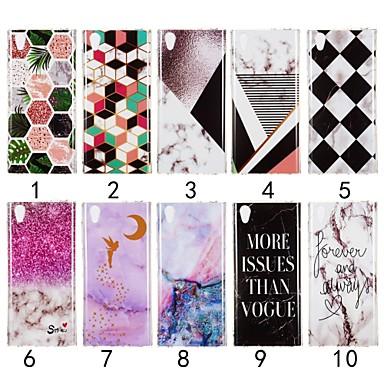 voordelige Hoesjes / covers voor Sony-hoesje Voor Sony Sony Xperia XZ3 / Xperia XZ2 / Xperia XA2 Ultra IMD Achterkant Marmer Zacht TPU
