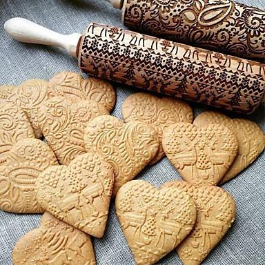 ieftine Ustensile & Gadget-uri de Copt-1 buc Lemn Încântător Multifuncțional Tort Biscuiți Materiale pentru torturi Vergea Instrumente de coacere