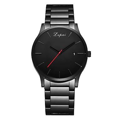 7c64376810a Homens Relógio de Pulso Quartzo Preta Calendário Relógio Casual Analógico  Luxo Elegante - Preto Um ano