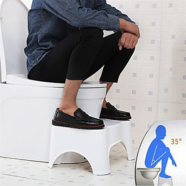 Toilet Squat Stool Bathroom Toilet Stool Bathroom Squatting Stool for Potty Assistance Step Stool for Toilet Posture and Healthy Release Portable Compact Design 7
