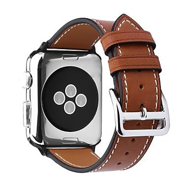 זול רצועות שעון-Calf Hair צפו בנד רצועה ל Apple Watch Series 4/3/2/1 שחור / חום / ורוד 23cm / 9 אינץ ' 2.1cm / 0.83 אינצ'ים