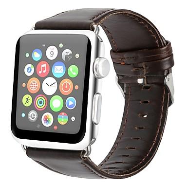 billige Herreure-ægte læder Urrem Strap for Apple Watch Series 4/3/2/1 Brun 23cm / 9 tommer 2.1cm / 0.83 Tommer