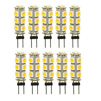 SENCART 10pcs 3 W LED-lampor med G-sockel 180 lm G4 T 13 LED-pärlor SMD 5050 Dekorativ Varmvit Vit Röd 12 V